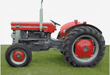 "Tracteur Massey ferguson130 Compté Cross Stitch Kit 17 ""x 12"" transport"