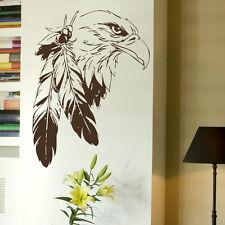 Indian Águila Pájaro Adhesivo De Pared Arte Gráfico Estarcido Vinilo Hogar Bi2