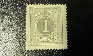 Sweden postage due  stamp #J1 mint NG VF centering minor thins