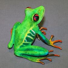 Bronze Frog Statue Figurine Amphibian Art Signed Certificate Of Authenticity