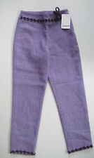NWT Cacharel Girls Wool Blend Lined Straight Side Zippered Pants Size 8 $145