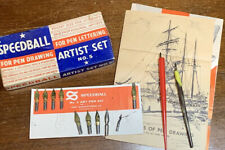 Vintage Speedball Artist Calligraphy Pen Set No. 5 w/Box