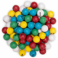 "Multi-color Bingo Balls, 75-pack | Replacement Pack 3/5"" Plastic Balls"