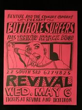 ORIGINAL CONCERT FLYER-BUTTHOLE SURFERS-TRAINED ATTACK DOGS-Revival Philly