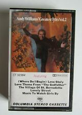 Andy Williams greatest hits volume 2 ii album music tape cassette tested