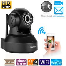 2x Sricam P2P Wireless IP Camera Pan/Tilt WiFi IR 720P CCTV Nightvision Webcam