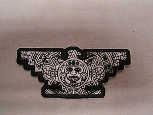 black & white aztec United Farm Workers patch Raza patch jacket UFW patch Huelga