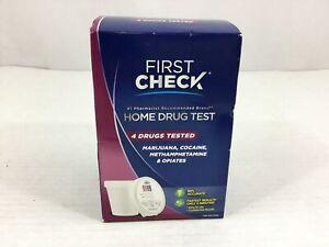 First Check Home Drug Test NIB Marijuana Cocaine Methamphetamine Opiates New