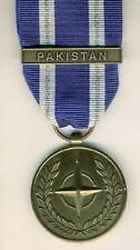 NATO MEDAL WITH CLASP; PAKISTAN  FULL-SIZE MEDAL WITH RIBBON