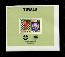 Tuvalu 1986 Rotary Int. Chess Scouts Scouts Scott 352 Souvenir Sheet Proof