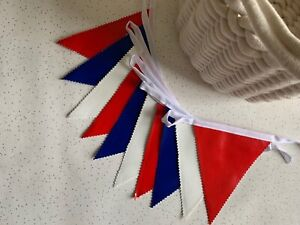 Handmade Outdoor Waterproof Bunting | Red Blue White Royal Celebration