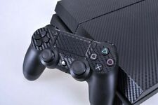 BLACK CARBON FIBRE COOL DECAL PROTECTIVE STICKER for SONY PS4 CONSOLE CONTROLLER