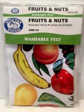 Little Folk Visuals Fruits & Nuts Washable Felt Hands On Learning Homeschool