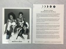 Destiny's Child Photo & Press Release The Writing's on the Wall 1999