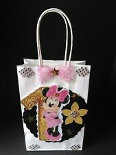 Minnie mouse inspired Disney birthday party favor gift goody filler 12 bags.