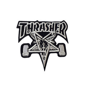 Thrasher Skating Embroidery Iron on Sew on PatchBadge For Clothes