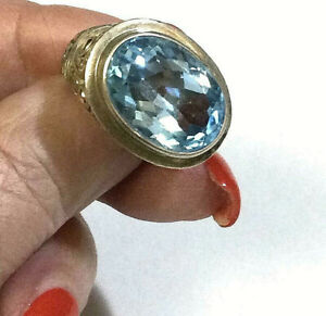 Samuel Benham 925 & 18k Blue Topaz Ring BJC