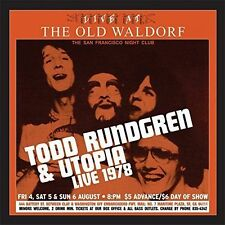 Live at the Old Waldorf: San Francisco, August 1978 [Limited Gold Vinyl Edition] [12/2] by Todd Rundgren/Utopia (Vinyl, Dec-2016, 2 Discs, Real Gone Music)
