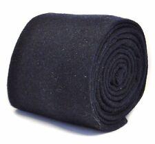 Frederick Thomas mens 100% wool tweed tie in navy blue  FT2186