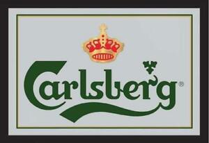 Carlsberg Beer Bier Spiegel Mirror Wandspiegel Bar Partykeller Kneipe 30 cm
