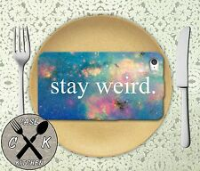 Stay Weird Space Galaxy Pink Cute Apple iPhone 4,4s,5,5s,5c,6,6 Plus Rubber Case