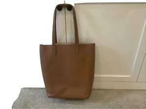 CUYANA Classic Leather Structured Tote Cognac/Blush