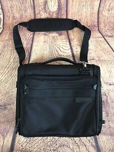 Briggs & Riley Black Ballistic Nylon Tablet Messenger Bag Business Case