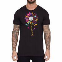 Men T-Shirts Nurse Sun Flower Funny Graphic Shirt Short Sleeve Cotton Top Tees