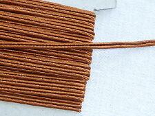 MERCERIE-PASSEMENTERIE-GALON SOUTACHE MARRON ORANGé-larg.0,3cm/Vendu au m