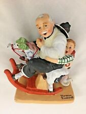"Norman Rockwell Humor 5X6"" Gramps At The Reins 1980 Danbury Mint Figurine"
