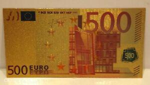 Collectable Collectors European Gold 500 Euros Coloured Banknote