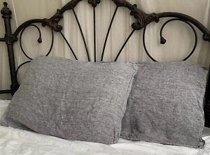 Brooklinen Gray Linen Standard Pillowcase Set Of 2