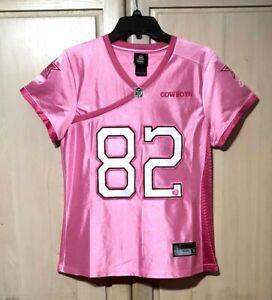 Women's Pink Jason Witten #82 Dallas Cowboys Jersey NFL Apparel Reebok Size L
