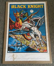original 1969 Marvelmania poster ~ THE BLACK KNIGHT ~ 23x34 inches