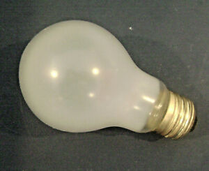 75W Shatter Resistant A19 Light Bulb 130V Rough Service Silicone Coated Lamp