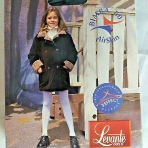 New Levante Girls Tights Pantyhose Airskin Winter-Weight 10 ANNI 9/11 Black