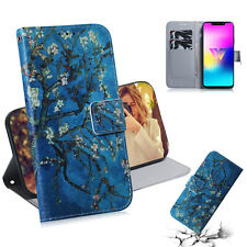 Apricot blossom Wallet Multi-function Leather cover Case skin for various phone
