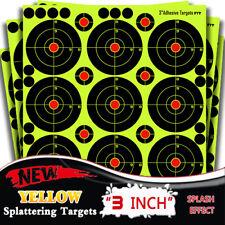 50Pack  3'' Circle Bullseye Splatter and Sefl Adhesive shooting Target Paper