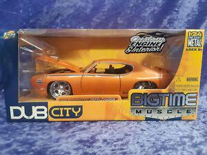 Jada 2005 Bigtime Muscle 1/24 MIB 1969 Pontiac GTO Judge DUB City 53003