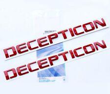 2x Origianl Red DECEPTICON EMBLEMS Badge Letter 3D for F150 Silverado Tundra Lu