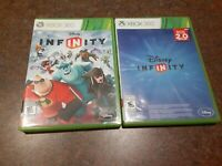 Lot of 2 Disney Infinity Xbox 360 Games 1.0 2.0 NO MANUALS