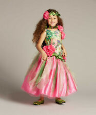 NWT GIRLS BOUTIQUE 10 CHASING FIREFLIES GARDEN PRINCESS COSTUME WITH HEADPIECE
