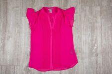 Sommer Bluse Gr.34 ? Pink Hängerchen Chiffon