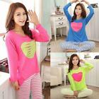 Fashion Women Homewear Leisurewear Nightwear Long Sleeve Sleepwear Pajamas Set