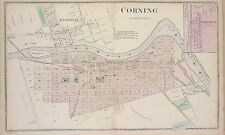 1873 STEUBEN COUNTY, CORNING, NEW YORK, GIBSON, KNOXVILLE, COPY PLAT ATLAS MAP