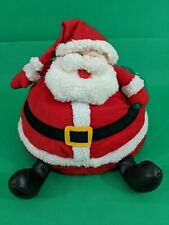 Design West Plush Stuffed Fat Santa Round Bottom Christmas Pillow Decoration