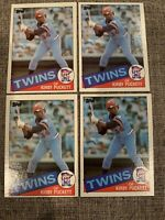 Kirby Puckett 1985 Topps #536 Rookie Lot Of 4 Cards Mint Condition