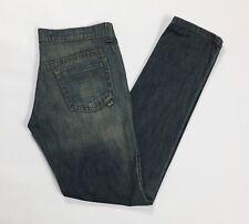 fake london genius jeans donna slim skinny blu vita bassa w30 tg 44 denim T3112