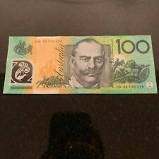 Australian $100 Dollar Polymer Bank Note Uncirculated UNC