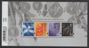 2020  Declaration Of Arbroath  Barcode Miniature Sheet  MS.S180  MNH - Ref:5663